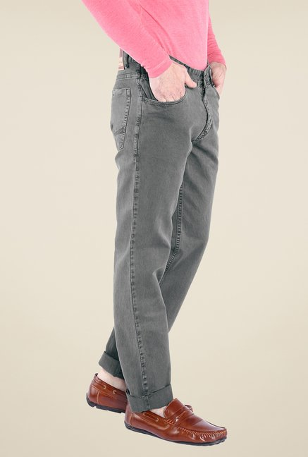 Parx Grey Raw Denim Jeans