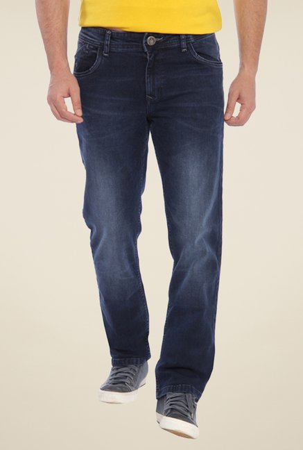 Parx Navy Lightly Washed Jeans