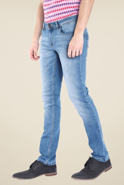 Parx Blue Heavily Washed Jeans