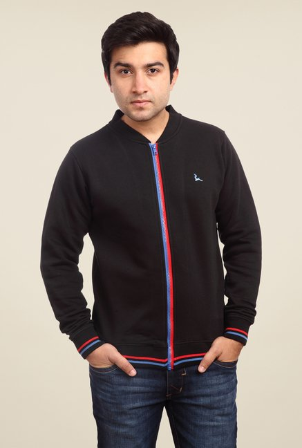 Parx Black Solid Sweatshirt