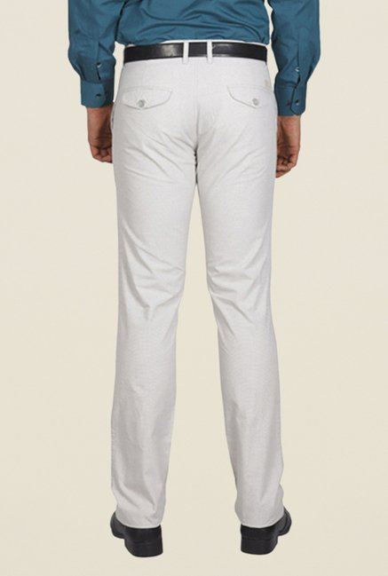 ColorPlus White Solid Trouser