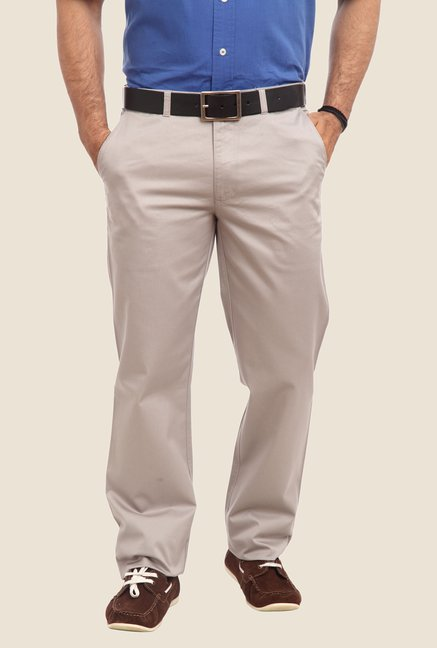 ColorPlus Light Grey Solid Trouser