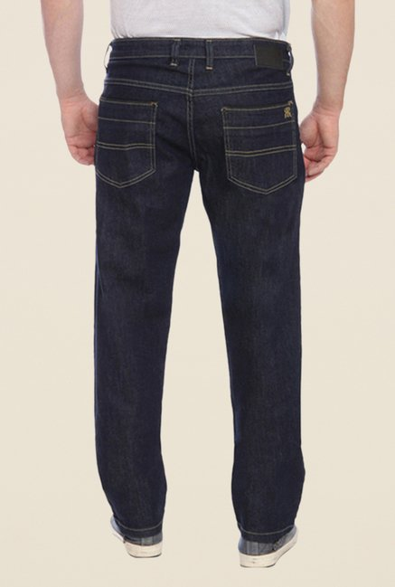 Raymond Navy Raw Denim Slim Fit Jeans