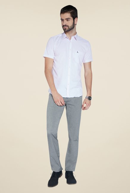 Parx Light Grey Solid Trouser