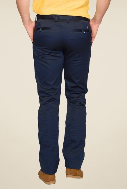 Parx Navy Solid Chinos