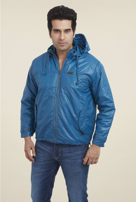 Park Avenue Blue Solid Jacket