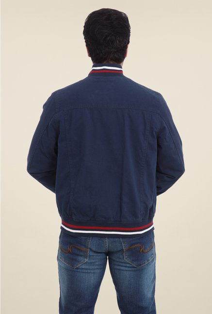 Park Avenue Navy Solid Jacket