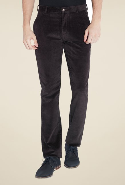 Parx Brown Solid Chinos
