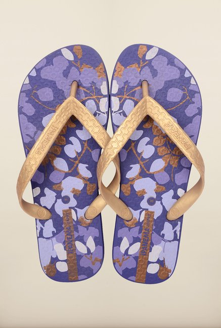 Ipanema Golden & Blue Flip Flops