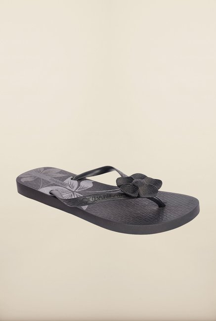 Ipanema Black Thong Flip Flops