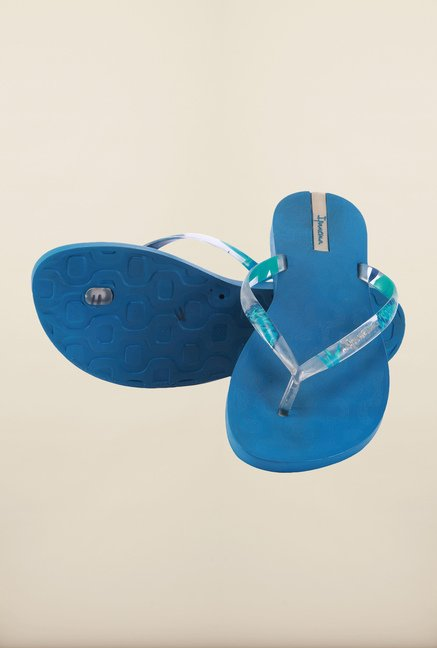 Ipanema Clear Blue Flip Flops