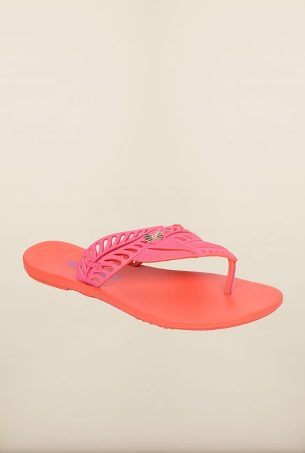 Ipanema Pink & Orange Flip Flops