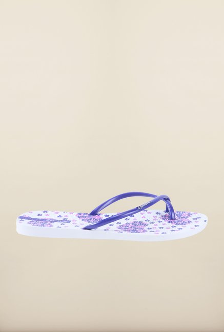 Ipanema Purple & White Flip Flops