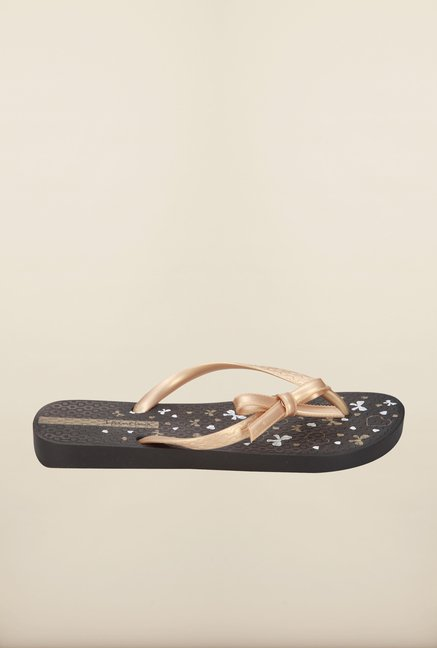 Ipanema Golden & Black Flip Flops