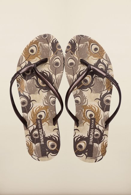 Ipanema Brown Flat Flip Flops