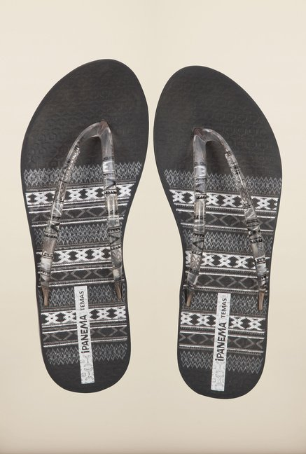 Ipanema Clear Black Flip Flops