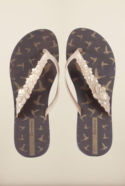 Ipanema Gold & Brown Flip Flops