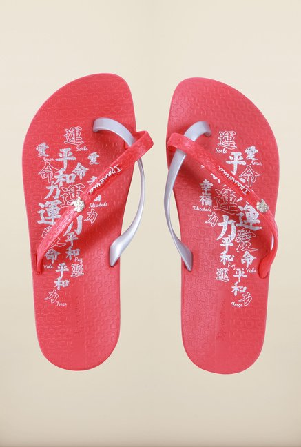 Ipanema Red & Silver Flip Flops