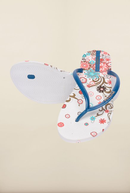 Ipanema Blue & White Flip Flops
