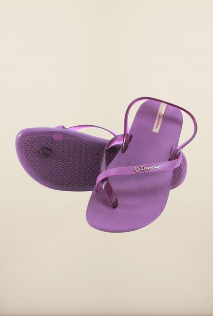 Ipanema Purple Sling Back Sandals