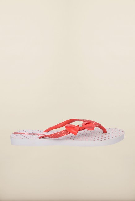 Ipanema Red & White Flip Flops