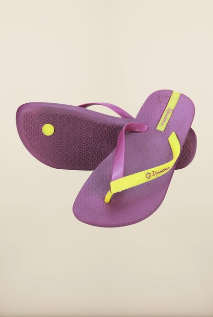 Ipanema Purple & Yellow Flip Flops