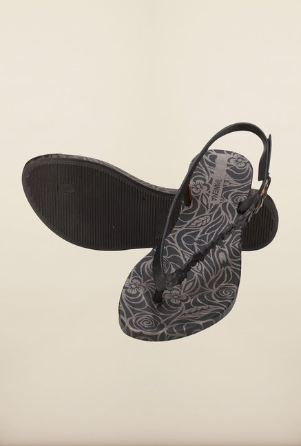 Ipanema Black Back Strap Sandals