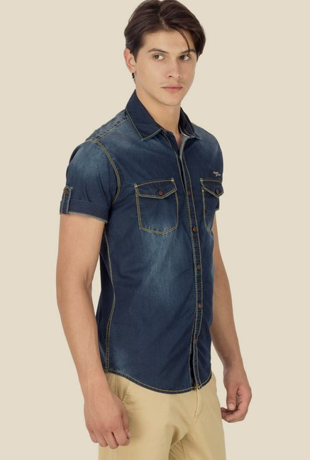 Mufti Dark Blue Shirt