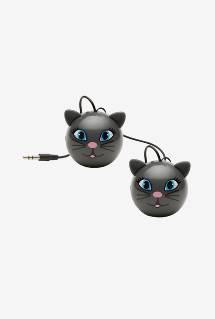 KitSound KSNMBCAT Mini Buddy Cat Universal Speaker (Grey)