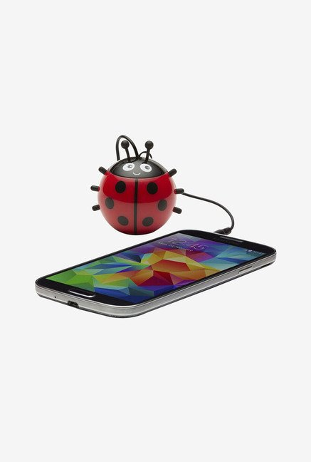 KitSound KSNMBLB Mini Buddy Ladybug Universal Speaker (Red)