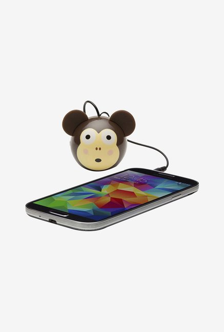 KitSound KSNMBMKY Mini Buddy Monkey Universal Speaker Brown