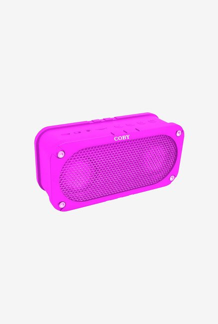 Coby CSBT-302-PNK Portable Bluetooth Disc Speaker (Pink)