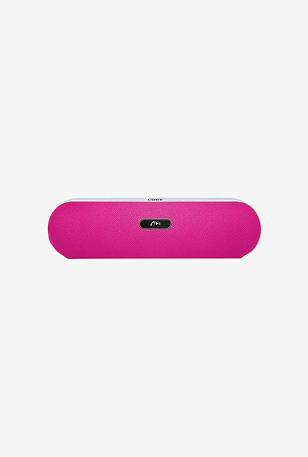 Coby CSBT-310-PNK Portable Bluetooth Speaker (Pink)