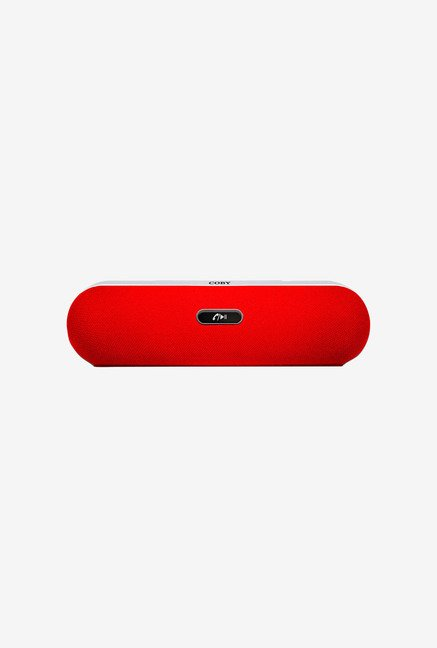 Coby CSBT-310-RED Portable Bluetooth Speaker (Red)