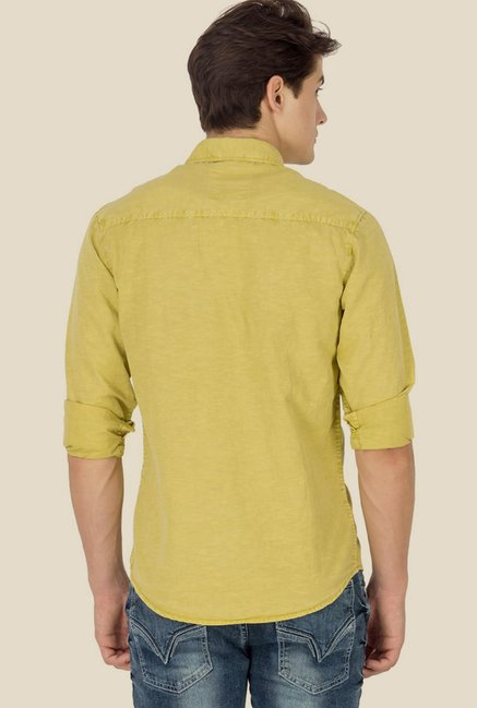 Mufti Lime Solid Shirt
