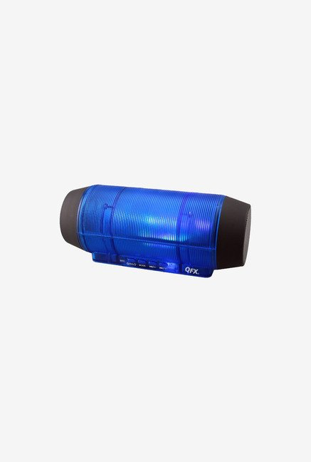 QFX Portable Bluetooth Speaker (with Microphone Blue)