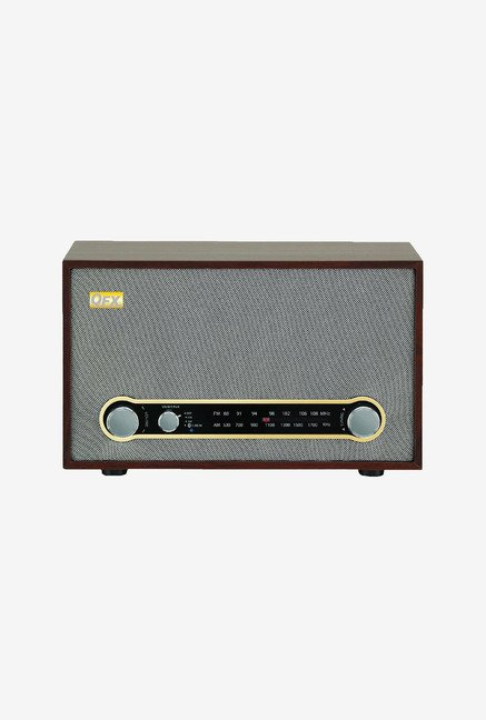 QFX USA RETRO-100 Bluetooth Speaker (Grey)