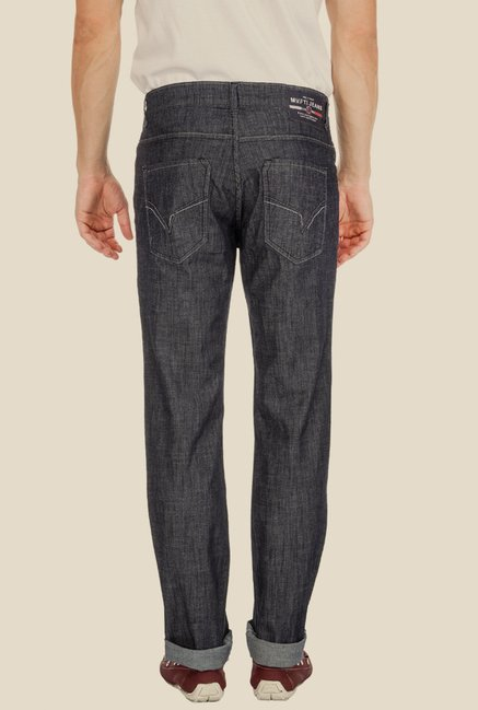 Mufti Grey Raw Denim Jeans
