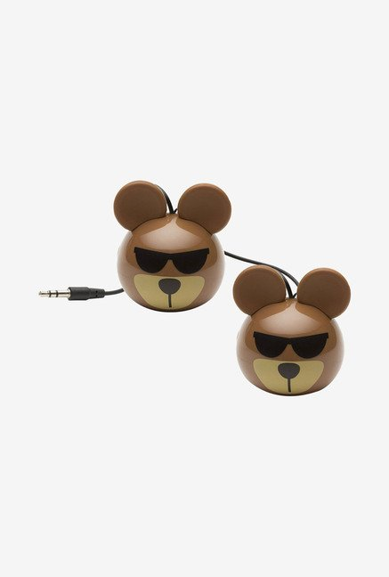 KitSound KSNMBBEAR Mini Buddy Bear Universal Speaker (Brown)