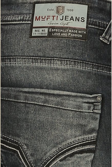 Mufti Black Acid Washed Jeans