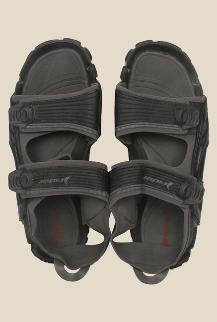 Rider Black & Grey Floater Sandals