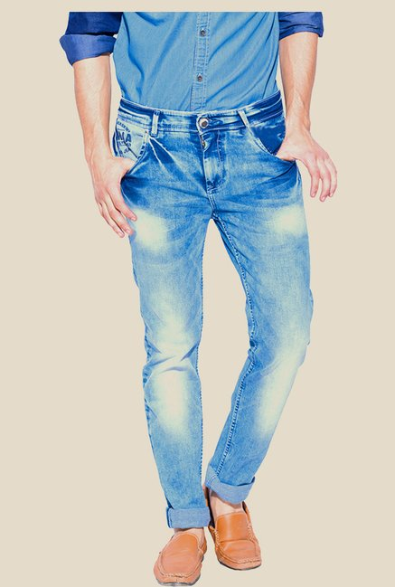 Mufti Blue Acid Wash Jeans