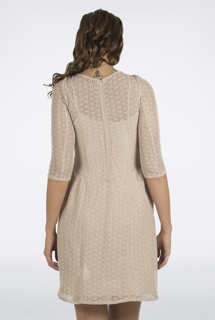 109 F Beige Lace Dress