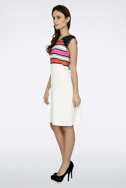 109 F White Striped Dress