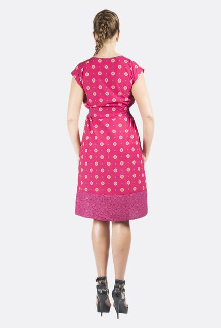 Fusion Beats Pink Floral Printed Dress