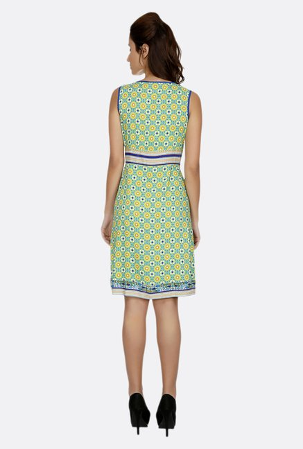 Fusion Beats Green Printed Dress