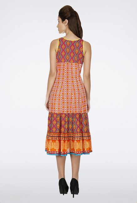 Fusion Beats Orange Printed Dress