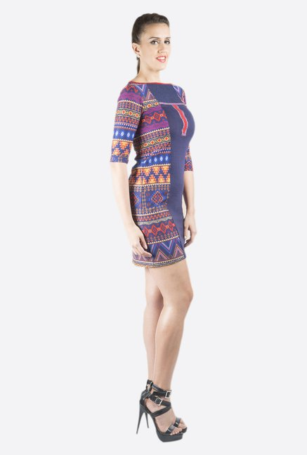 Fusion Beats Navy Printed Dress