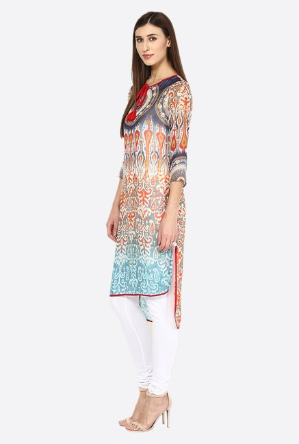 Fusion Beats Multicolor Printed Kurta