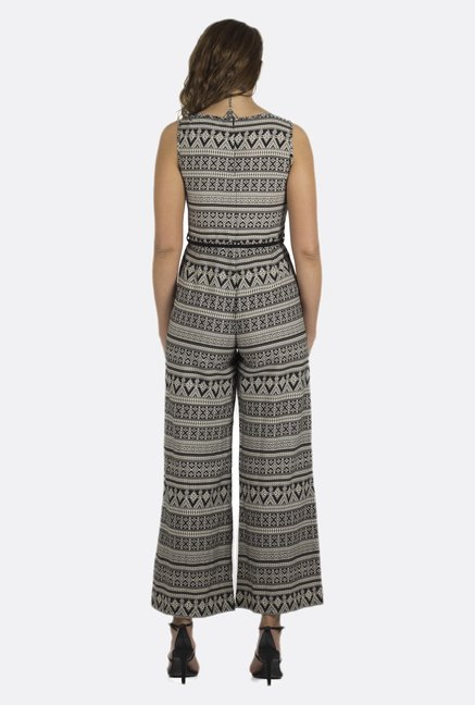 Fusion Beats Black Printed Jumpsuit